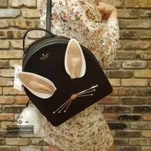 Kate Spade Rabbit Hop To it Backpack BLACK NWT